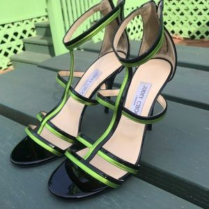 Jimmy Choo Patent Thistle strappy heel